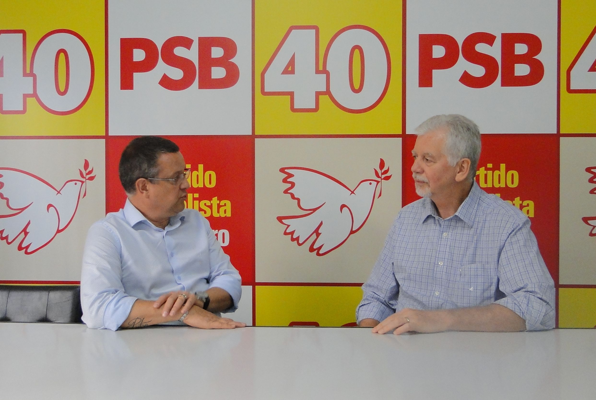 Beto e Fortunati na sede do PSB/RS